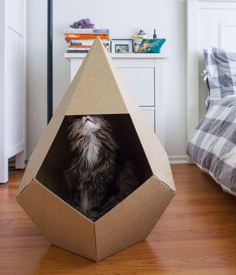 Eco-Friendly Cardboard Cat Houses