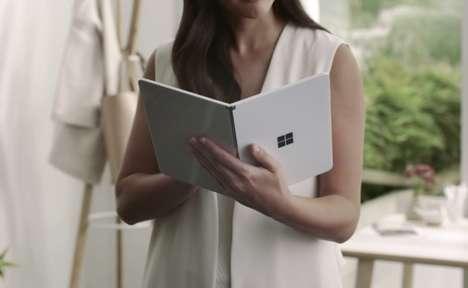 Folding Dual-Screen Tablets
