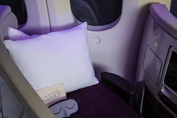 GET IT FAST PINK Travel Airplane Pillow
