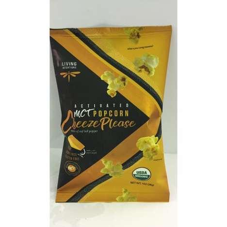 MCT-Infused Popcorn Snacks