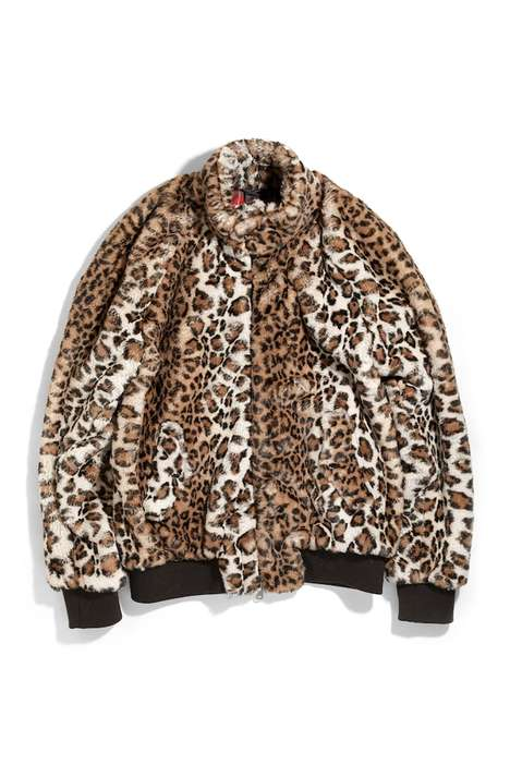 Animal Print Faux Fur Jackets