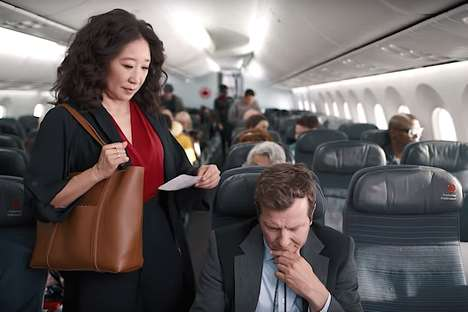 Canadian-Themed Airplane Commercials
