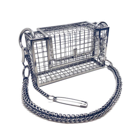 Sculptural Cage Bags