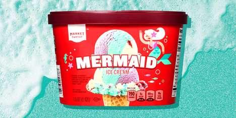 Mermaid-Themed Ice Creams