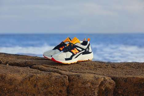 Comfortable Orange-Accented Running Shoes