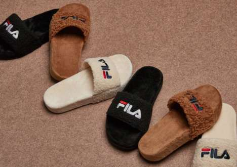 Fuzzy Slide Slippers