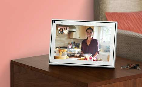 User-Tracking Video Call Displays