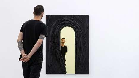 Sculptural Rock-Like Mirrors