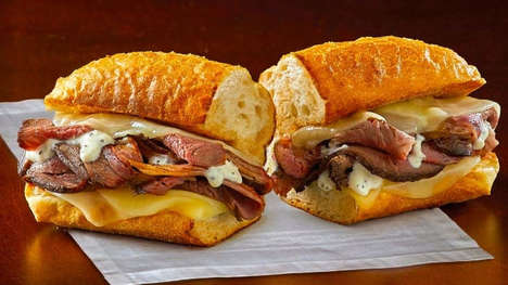 Cheesy Prime Rib Sandwiches