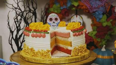 Skeleton-Topped Churro Cakes