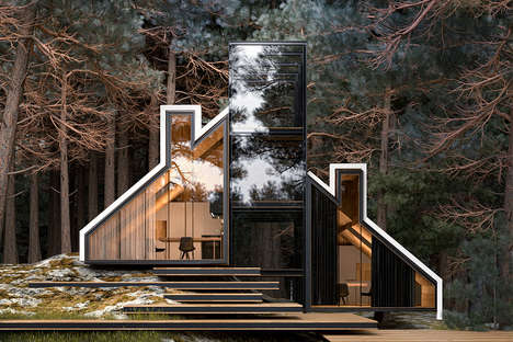 Boldly Outlined Holiday Homes