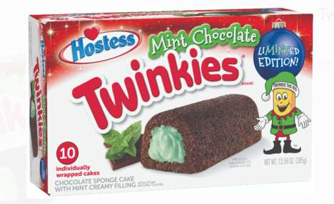 Mint Chocolate Snack Cakes