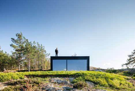 All-Black Remote Sauna Buildings