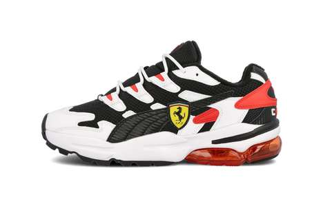 Overlayed Multi-Material Sneakers