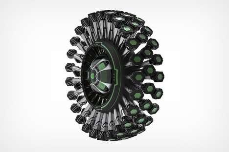 Leggy Flower-Like Tires