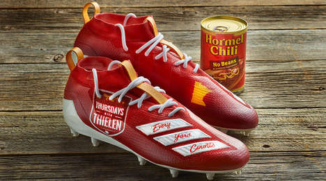 Charitable Chili-Inspired Cleats