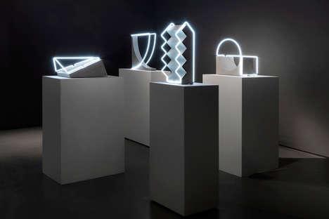 Concrete Light-Accented Sculptures