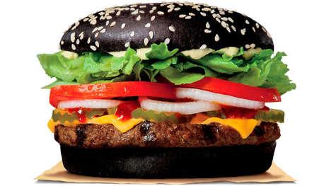 Seasonal Black Halloween Burgers