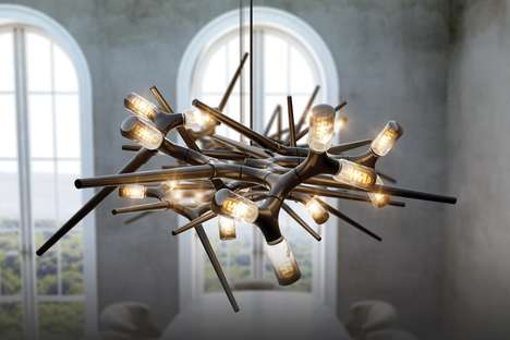 Aggressively Raw Natural Chandeliers
