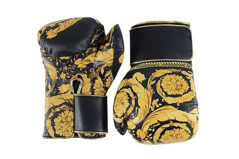 Luxury Flower-Printed Boxing Gloves