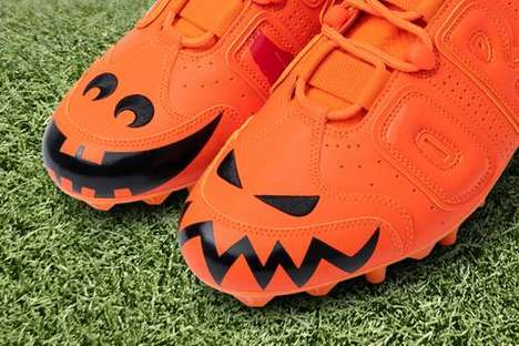 Bold Halloween-Themed Cleats