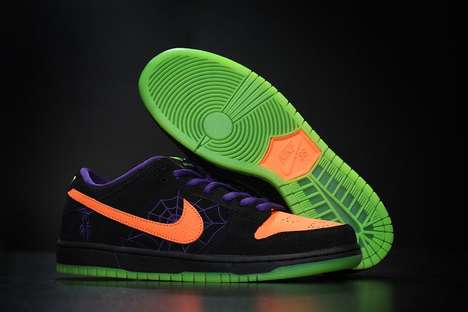 Glowing Web-Graphic Shoes