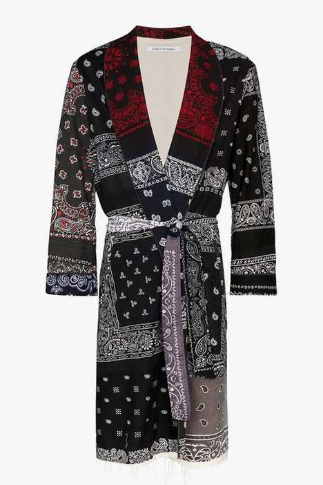 Bandana Patterned Long Coats