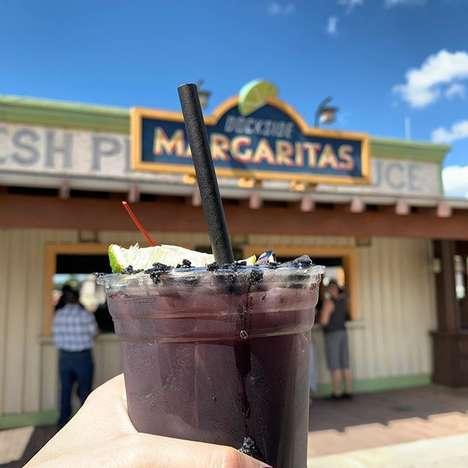 Spooky Dark Purple Margaritas