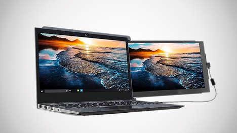 Clip-on Supplemental Laptop Screens