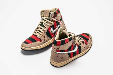 Custom Horror-Themed Sneakers