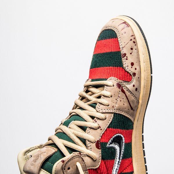 Custom Horror-Themed Sneakers : Freddy