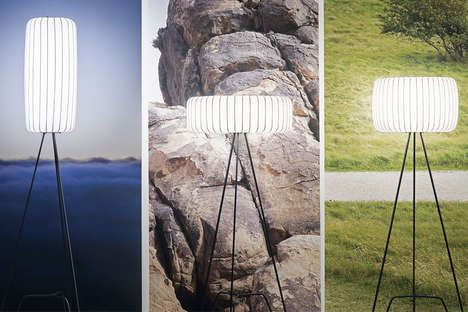 Cocoon-Like Standing Lamps