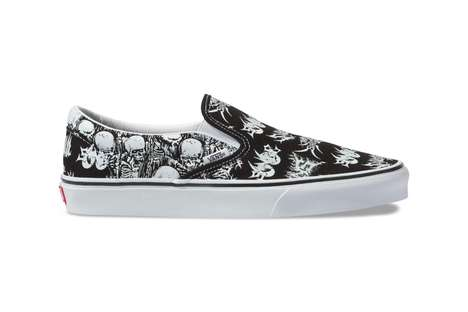 Skull-Graphic Canvas Footwear