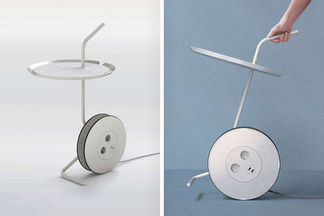 Rolling Device-Charging Side Tables