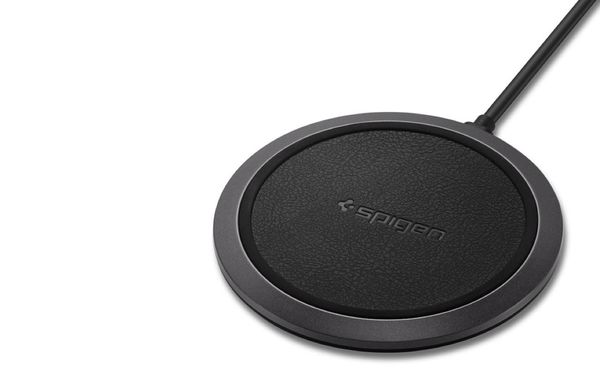 Leather Accented Wireless Chargers : Spigen F308W