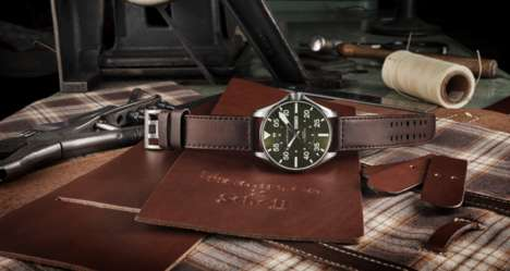 Classic Leather Watch Collaborations - The Hamilton x Schott Watch Blends History and Modernity