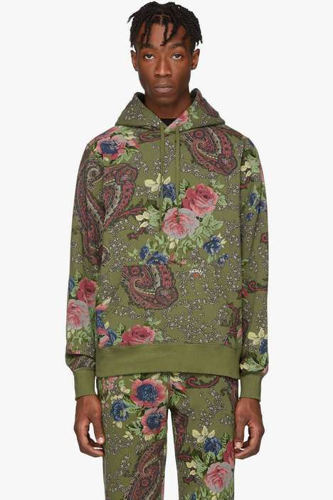 Paisley-Adorned Cozy Sweatsuits