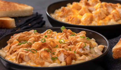 Chicken Tender-Topped Pastas