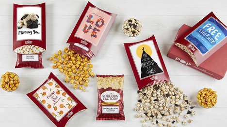 Popcorn-Paired Greeting Cards