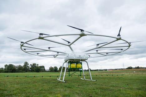 Crop-Dusting Autonomous Drones
