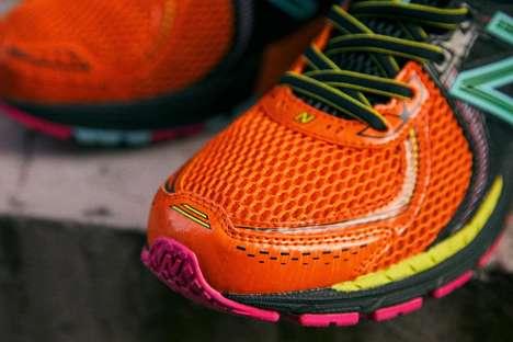 Vibrant Tonal Running Shoes