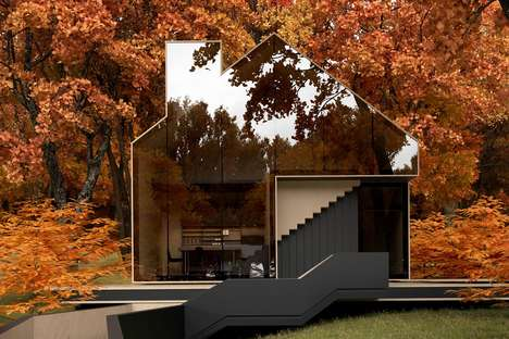 Reflective Glass Homes - Architect Alex Nerovnya's Latest Design Boasts Reflective Glass