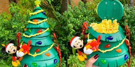 Christmas Tree Popcorn Buckets