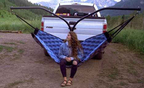 Inflatable Outdoor Camper Hammocks
