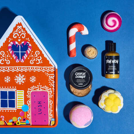 Gingerbread-Inspired Bath Sets