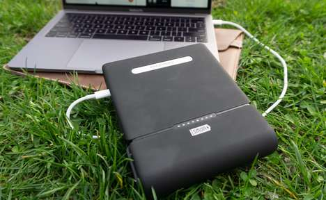 Outlet-Equipped Portable Chargers