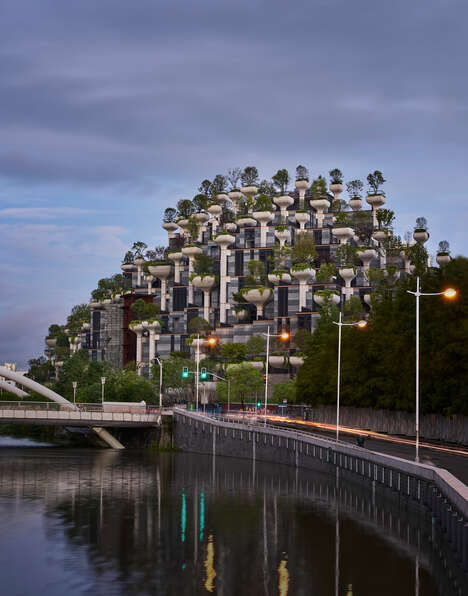 Moutain-Like Tree-Covered Developments