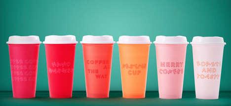 Festive Ombré Coffee Cups