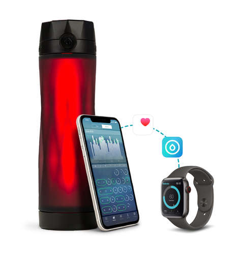 Glowing App-Enabled Water Bottles
