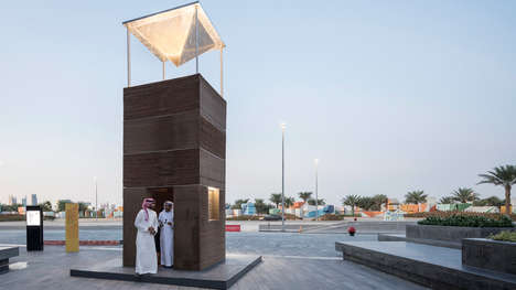 Sustainable Air Conditioning Towers - MAS Architecture Made an Air Conditioning Tower with Cardboard